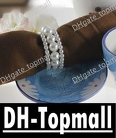 Wholesale New Shiny Pearls Napkin Rings For Wedding Favor Supplies Party Table Decoration Accessories Top Quality David