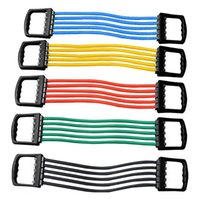 Wholesale Portable Indoor Sports Supply Chest Expander Puller Exercise Fitness Resistance Cable Band Tube Yoga Latex Resistance Bands