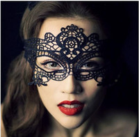 Wholesale New Arrivaling Mascaras Halloween Props Sexy Lace Party Masquerade Mask Venetian Costume Patterns Black For Halloween day Christmas day