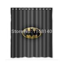 batman shower curtains - DIY Black Batman Logo Cool Shower Curtain x180cm High quality Waterproof bath curtain