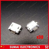 Wholesale Micro USB Type B Female Long Pin SMT Socket Jack Connector PCB Board
