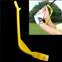 Wholesale Golf Practice Plane Swing Guide Trainer Gesture Alignment Training Wrist Correct Aid Tool H8250