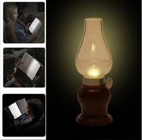 Wholesale LED Retro Lamp Lamps Novelty Lighting USB Rechargeable Blowing Kerosene Adjustable Blow On Off Night Light Home Decroration JIA480