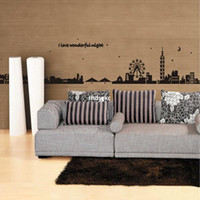 bedroom black bedding - bedroom decoration Three generations of wall stickers foot line baseboard black landscape background AY925 school office sofa bed