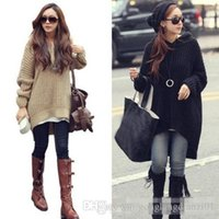 Cheap Women Long Sleeve Oversized Batwing Knit Hooded Sweater Loose Jumper Pullover Tops New