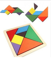 wooden toys for children - 2015 New Arrival Children Mental Development Tangram Wooden Jigsaw Puzzle Educational Toys for FOR Years old Kids