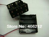 Wholesale 8 XAA back to back battery holder BATTERY CASE battery box V