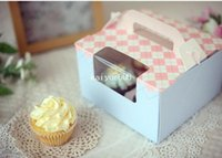 baking powder - Korea baking powder blue packing grid Cheese Muffin Cake Box portable cassette