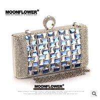 Wholesale Super Sale Full Luxury Crystal Evening Clutch Bag Purses Women Fashion Hard Case Party Handbag with Shoulder TOP942