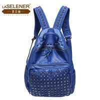 Wholesale 2015 NACI new winter tide Backpack Bag Leather rivet Korean Travel Bag Travel Backpack