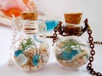 michigan - Lake Michigan Beach Sand and Sea Glass Shell Necklace