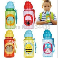 baby bottles - High Quality tritan zoo baby cups baby cartoon water bottle Straw Bottle BPA FREE NO PVC NO Phthalate sports bottle