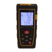 Wholesale Laser Rangefinder m ft Laser Distance Meter Bubble level Measurer CP s Laser Range Finder Laser MeasureArea volume M Ft in Tool