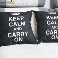 Wholesale keep calm and carry on cushion cover throw pillow case sofa accessories home decoration bedding decor ETH0109 new arrival
