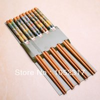 bamboo symbols - Pairs Pairs Bamboo Cutlery Oil Painting Symbols of Eternity Chopsticks quality Charm characteristics Gift