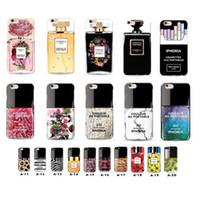 apple nail polish - Luxury Perfume bottle pattern soft TPU case cover for Iphone5 s s plus Samsung s6 edge flower nail polish bottle cigarette pattern cases