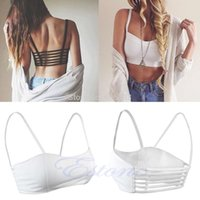 acrylic cages - C18 Newest Celebrity Sexy Women Bralette Cage Caged Back Cut Out Padded Bra Bralet Crop Top