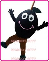 Mascot Costumes advertising plus - Advertising Anime Cosply Costumes Happy Black Olive Mascot Costume Adult Olive Theme Carnival Mascotte Fancy Dress Kits SW1967
