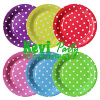 Wholesale quot cm Round Paper Plate Dish Event Party Supplies Tableware PP