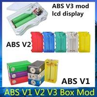 ABS V3 ABS V2 ABS V1 Mod Box ABS Limpar Caixa de cor com caixa Vapor colorido Luz Acrílico ABS 1 2 3 caixa de mod 18650 clone Bateria vs Dimitri mod