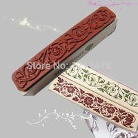 rubber stamps - 9 cm diy decorative stamp flower pattern lace stamp decoration vintage rubber wood stamp flowers