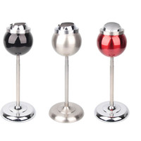 Wholesale New Listing Standing Floor Ash tray Stainless Steel Metal Windproof Ashtrays With Lids