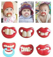 Wholesale High quality interest creative silicone baby pacifier funny nipple pacifier buck teeth and rabbit teeth