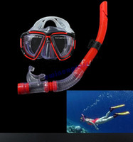 Wholesale New swimming goggles Scuba Diving Equipment Dive Mask Dry Snorkel Set swimming glasses Scuba Snorkeling Gear Kit