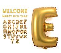 aluminium english - 16 Inch gold silver Alphabet Helium Aluminum Foil Balloon english A Z Letters Birthday Shower Party Wedding Christmas Decoration Supplies