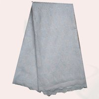 Wholesale Excellent item ZC12 Swiss dry lace cloth Nice African embroidery Cotton lace fabric for dress yards