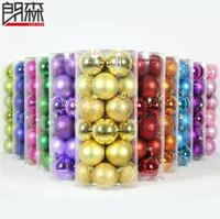 venda por atacado bolas de isopor-Misture 24pcs Cor / lote Decorações de Natal, decorações da árvore de Natal, isopor Balls, frete grátis