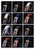 animal texture - Men s Automatic belt crocodile Grain Belt Fashion Buckles Men s Belt Genuine Leather Belts Texture Leather Belts K001