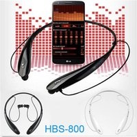 Wholesale HBS Bluetooth headset HBS neckband and in ear flexible neck strap with volume control and microphone with colors