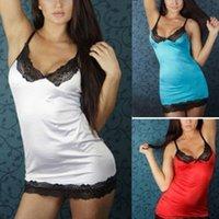 bamboo nightwear - Fashion Sexy Women Lingerie Sleepwear Lace Dress Underwear Nightwear G string CA