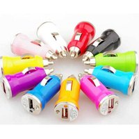 Wholesale Mini USB Car Charger USB Charger Universal Adapter for iphone S Cell Phone PDA MP3 MP4 player mobile i9500 s3 m7 Chargers