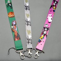 Wholesale Nightmare Before Christmas Popular Lanyard Key Card ID Chain Neck Straps fors Kids best Christmas gift