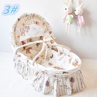 Wholesale Promation Portable Baby Bassinet Baby Lounge Baby Cradle Lovely Baby Baskets With Long Skirt Newborn Baby Products Colors