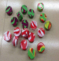 Wholesale 100pcs Nonstick silcone container jars dab silicone container jars balls with various colors