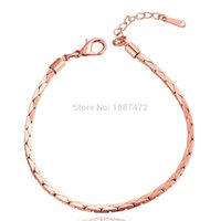 2.5mm chain - 2015 MM k gold plated alloy fashion Triangle snake chain Bracelets for men women link figaro jewelry Rhinestone created B094