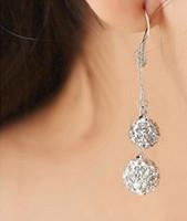Dangle & Chandelier amber pendants - Silver Jewelry Ball Cute Girl Wedding Earrings Chandelier Drop Pendant Crystal Shiny Party Women Wedding Accessories