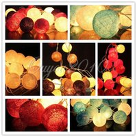 Wholesale for M Fabric Cotton Ball String Fairy Lights Xmas Wedding Party Home Decoration Lamp Bulb