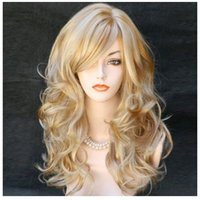 Wholesale Sell like hot cakes Diabolik lovers Komori Yui MIX Pale Gold Light Pink Curl Cosplay Costume Wigs Wig Cap welcome