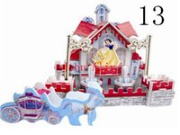 Wholesale HOT SALE Baby Kids Educational Toy Lovely Cartoon Castles Hummer anf Naval Ship DIY D Paper Puzzle