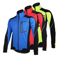 clothing sport coats - Autumn Winter Warm Men Cycling Jacket Bike Bicycle Clothing Coat Windproof Waterproof Outdoor Sport Cycling Jersey Tops Spring