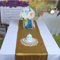 banquet fashion table cloth - Fashion Classic Holiday Theme Gold Satin Table Runners Wedding Banquet Centerpieces Table Cloth For Party Supplies