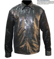 Cheap Rare MJ Michael Jackson Classic Sequin Shirt Motown Billie Jean in 1980's For Proformance Show Collection Imitation