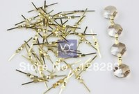 Wholesale mm Gold Plated Copper Bowtie Connector Pin for Crystal Garland Chandelier DIY parts