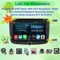 Wholesale Car dvd Multimedia radio android player for Geely emgrand ec7 autoradio CD gps navigation TV Pure android Quad Core