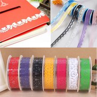 Wholesale Hot Sales Set Office Adhesive Tape Sticky Paper Decorative Lace Roll Plastic C308
