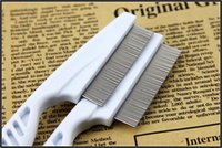 Wholesale pet cat dog brush health comb special flea lice comb brush facial fine tooth comb thick straight row